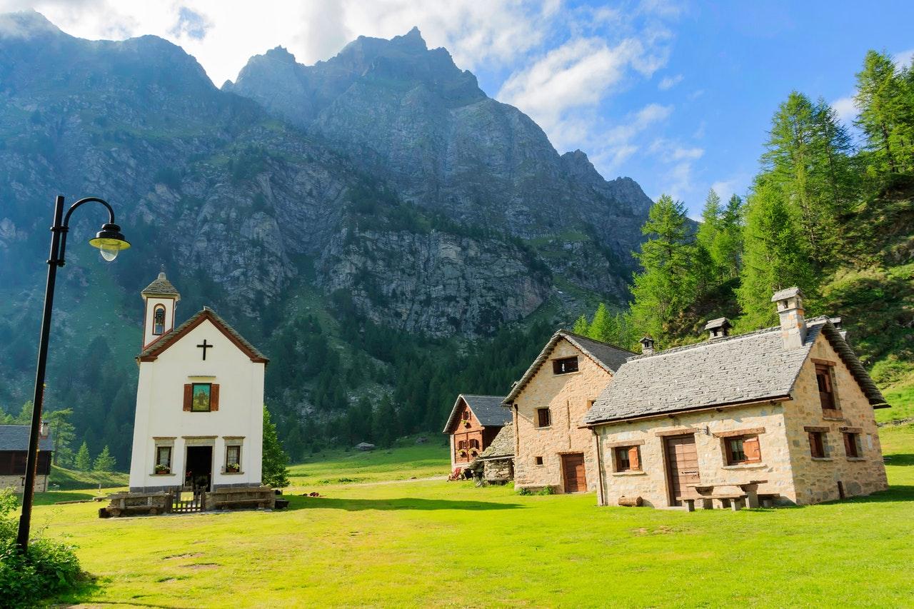 rural monuments mountain italy monte rosa